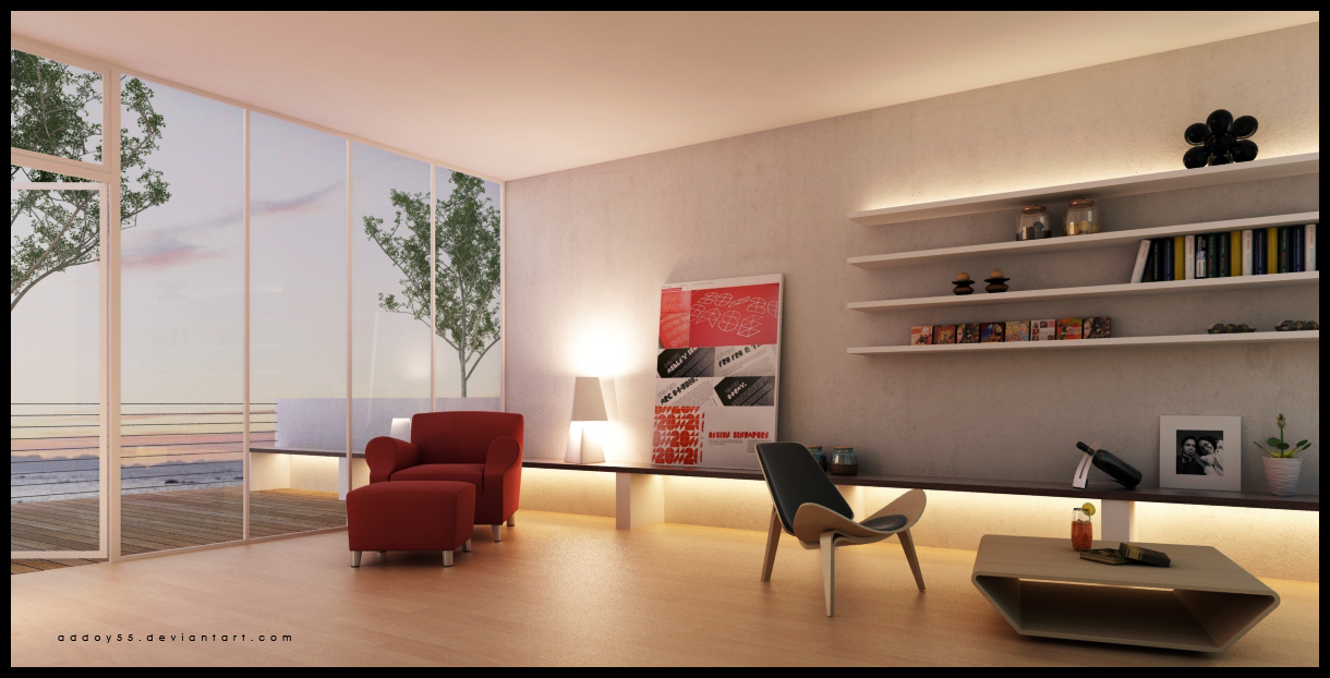 3d Wallpaper House Malaysia Living Room With Balcony View Interior Design Ideas