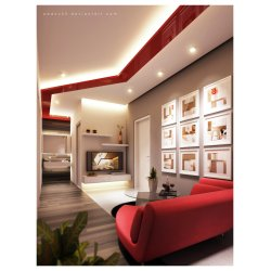 Small Crop Of Red Living Room