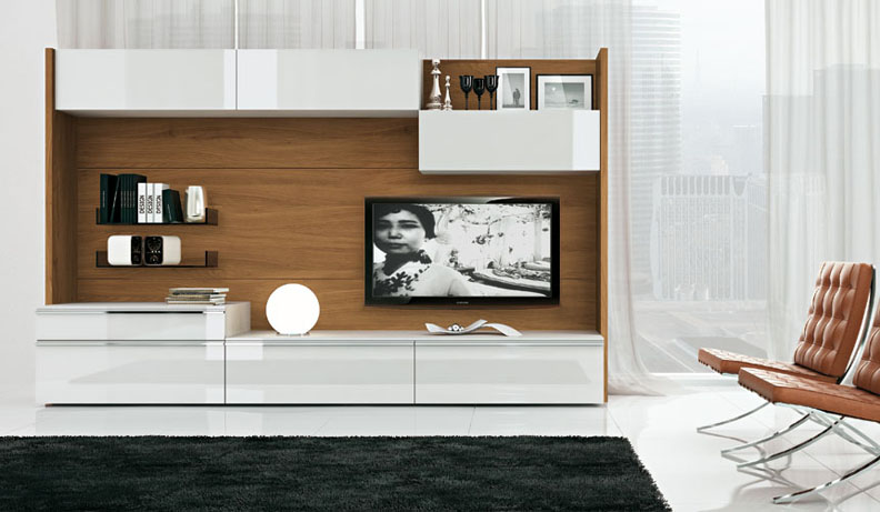 Modern TV Wall Units - designer wall unit