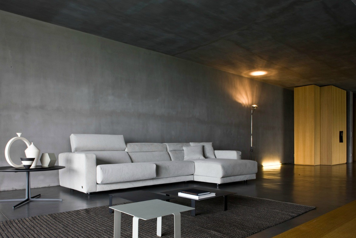 Concrete House Interior Busnesli Dark Modern Living Room Interior Design Ideas