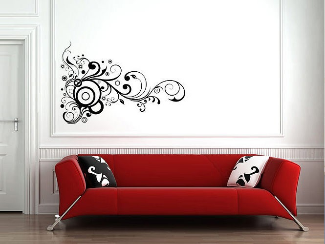 wall stickers lend personal touch black flower wall stickers black flower wall stickers