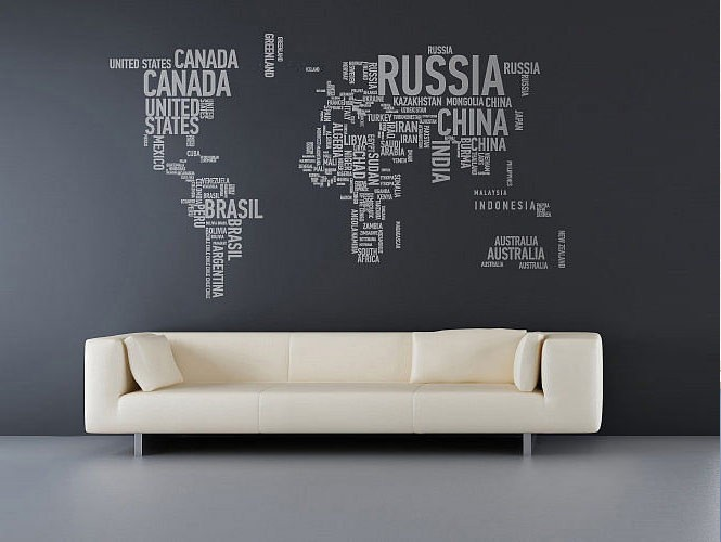 wall sticker world map interior design ideas wall sticker cambia il dell ambiente attimo