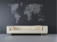 wall sticker world map | Interior Design Ideas.