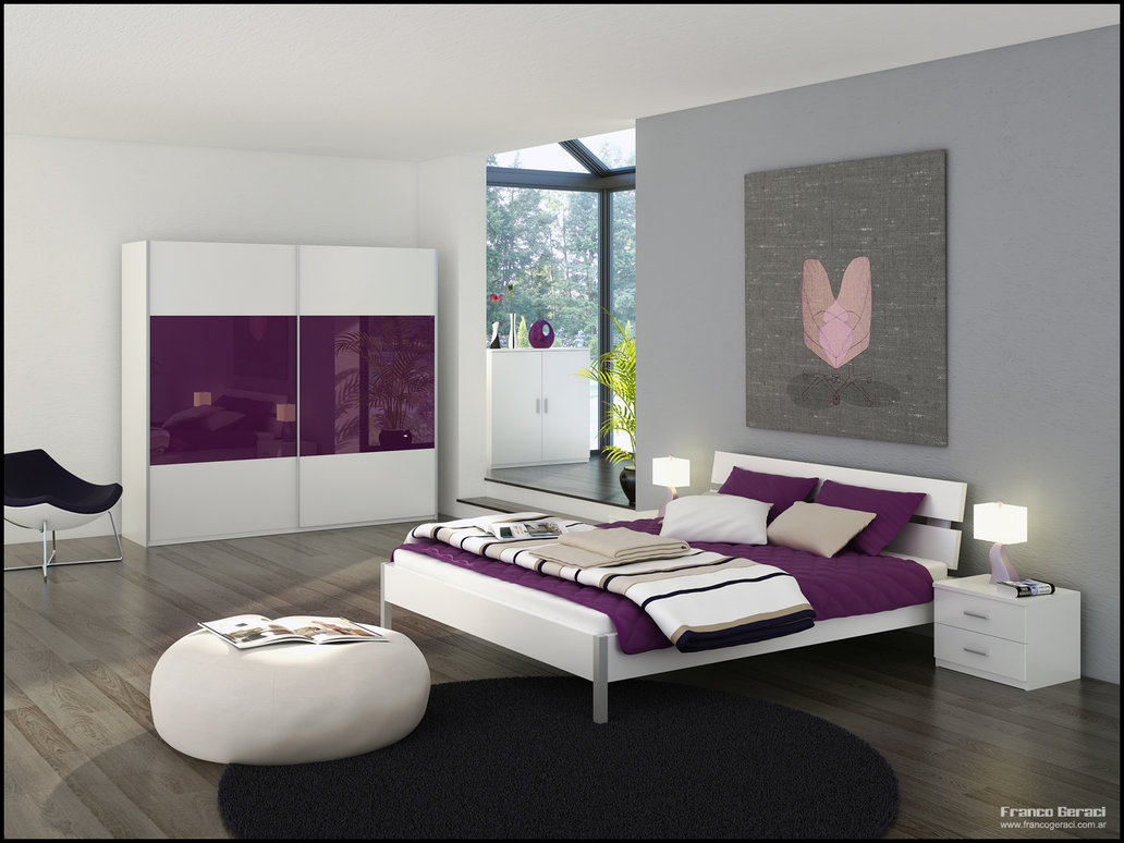 Purple And Grey Bedroom Ideas Grey Bedroom With Glass Sanctuary And Purple And White