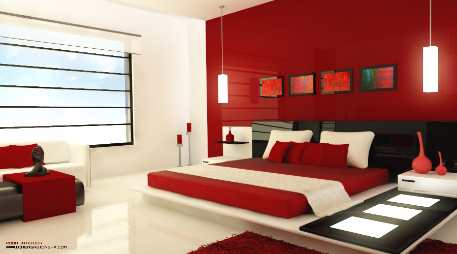 Red and black bedroom design home decor and interior design