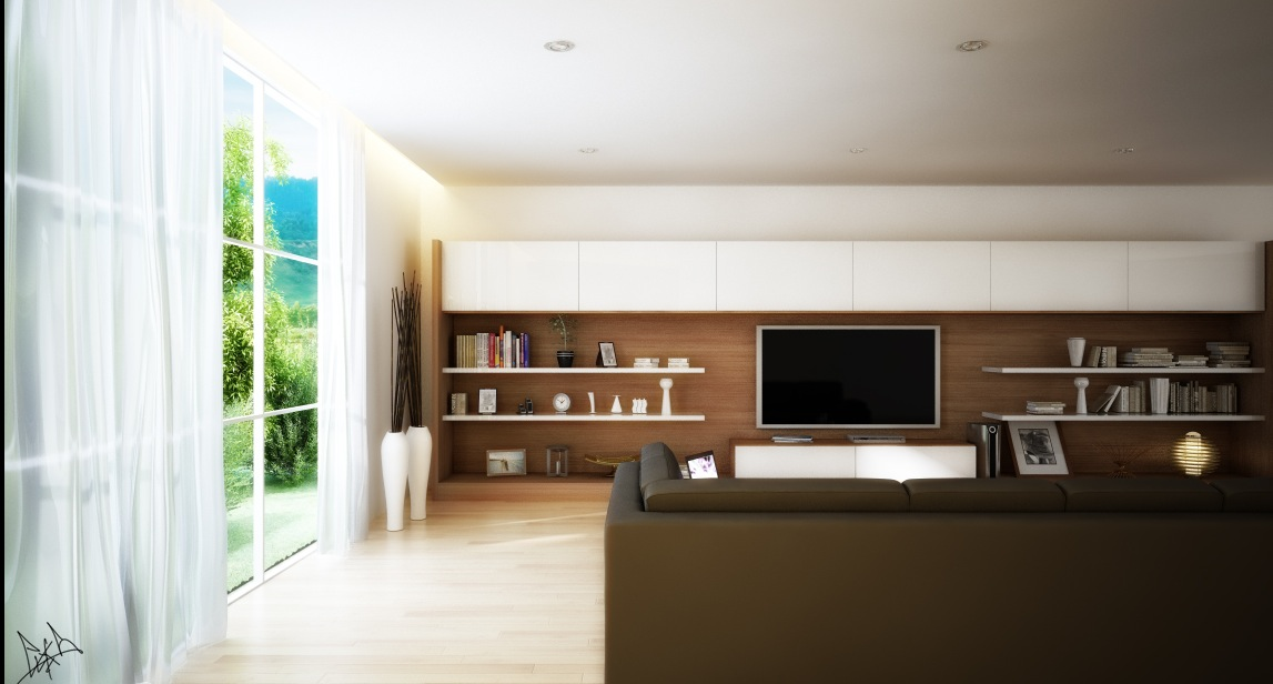 long tv wall unit Interior Design Ideas - how to decorate a long wall in living room