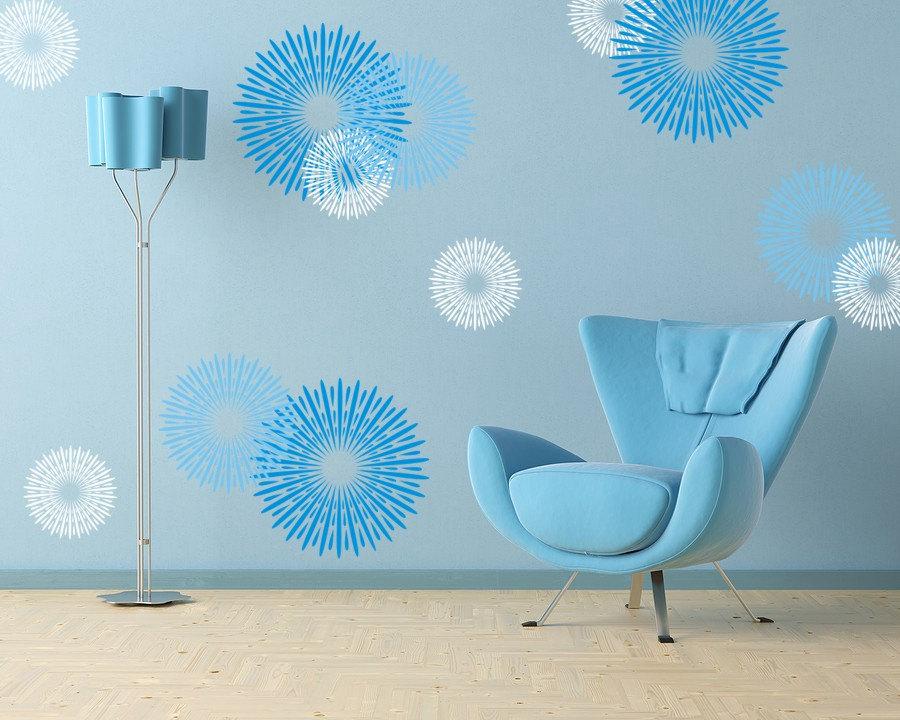 vinyl wall decals butterfly design floral circle wall art sticker transfers ebay