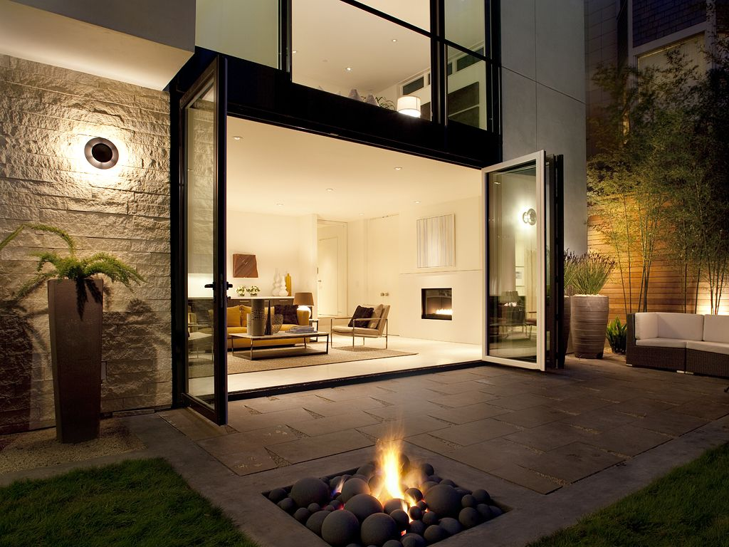 Fireplace And Patio Backyard Designs