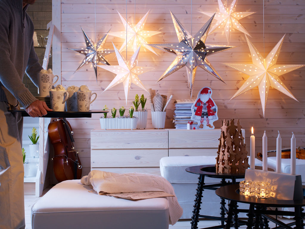 Christmas Interior Design Star Lights Interior Design Ideas