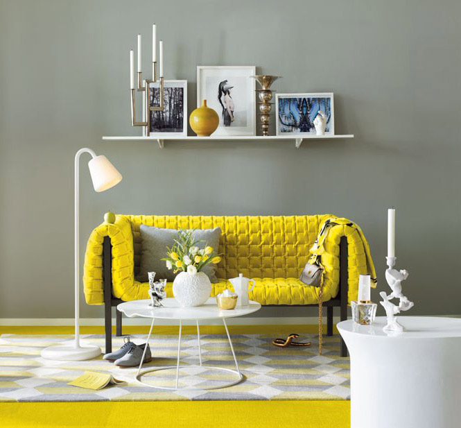 Yellow Room Interior Inspiration 55+ Rooms For Your Viewing Pleasure - yellow and grey living room
