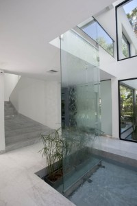 Carrara House waterfall