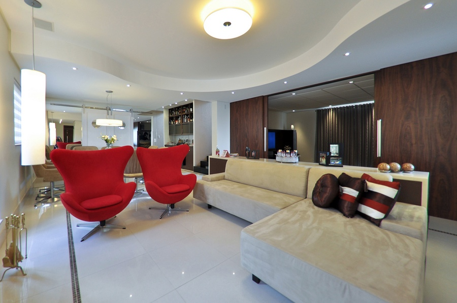 9 Neutral red modern chairs living room Interior Design Ideas - red living room chair