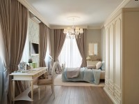 Blue Taupe Brown Traditional Bedroom | Interior Design Ideas.