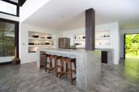Concrete kitchen island countertops   Interior Design Ideas.