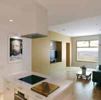 Neutral open plan kitchen living room | Interior Design Ideas.