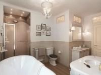 Neutral traditional bathroom | Interior Design Ideas.