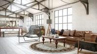 industrial utilitarian living space | Interior Design Ideas.