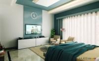 white aqua blue modern bedroom | Interior Design Ideas.