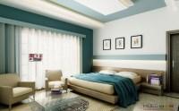 white teal bedroom platform bed | Interior Design Ideas.