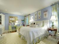 Blue white bedroom | Interior Design Ideas.