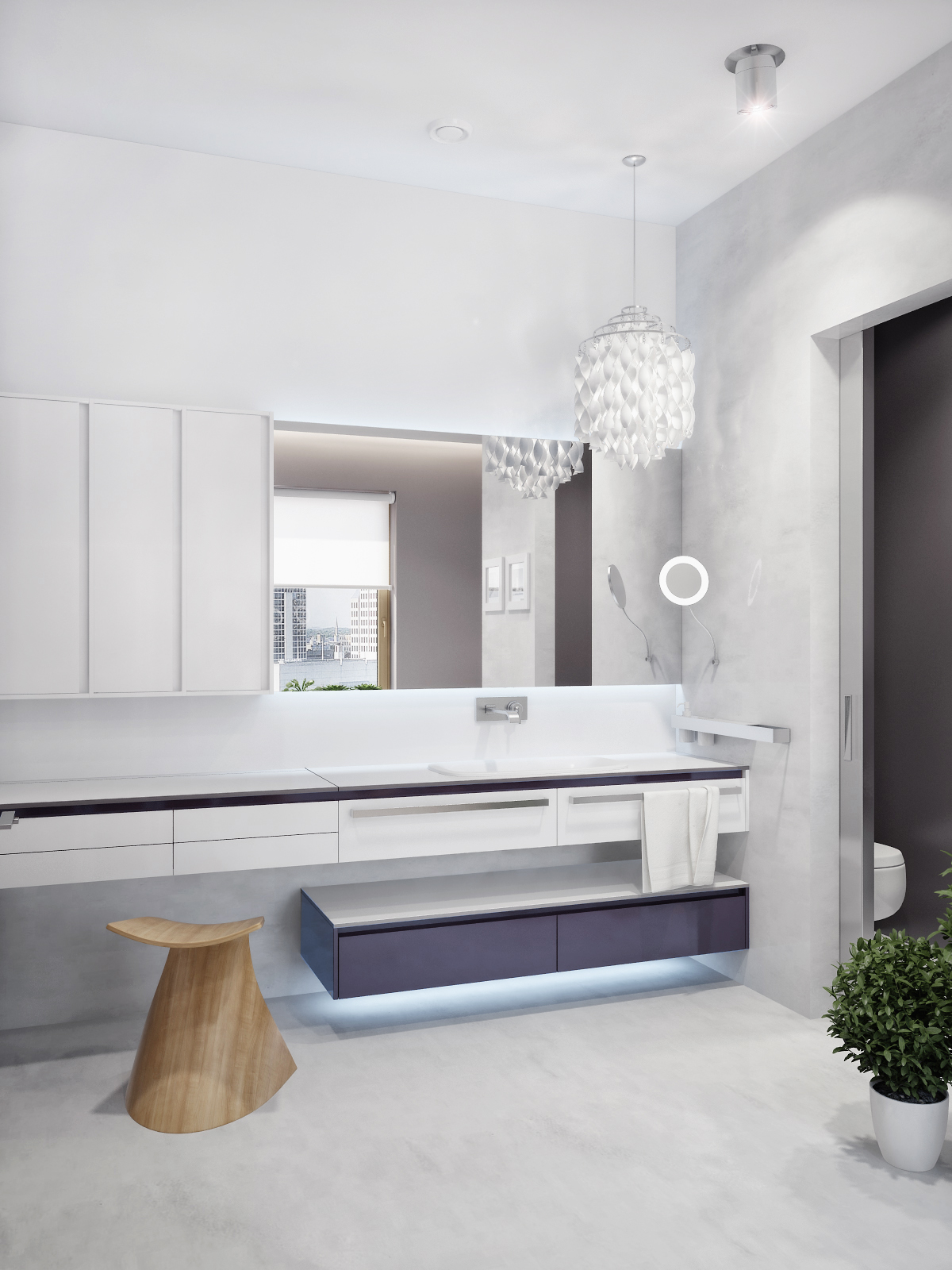 Moderner Schminktisch Modern White Vanity Unit Interior Design Ideas