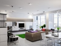 Neutral open plan living room | Interior Design Ideas.