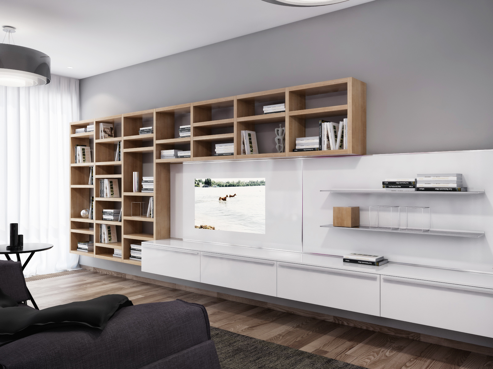 Wall Unit Modern White Entertainment Wall Unit Interior Design Ideas