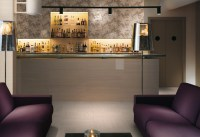 Purple white lounge bar patterned wall tile | Interior ...