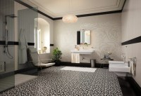 Tiled floor carpet floral mosaic tiles | Interior Design ...