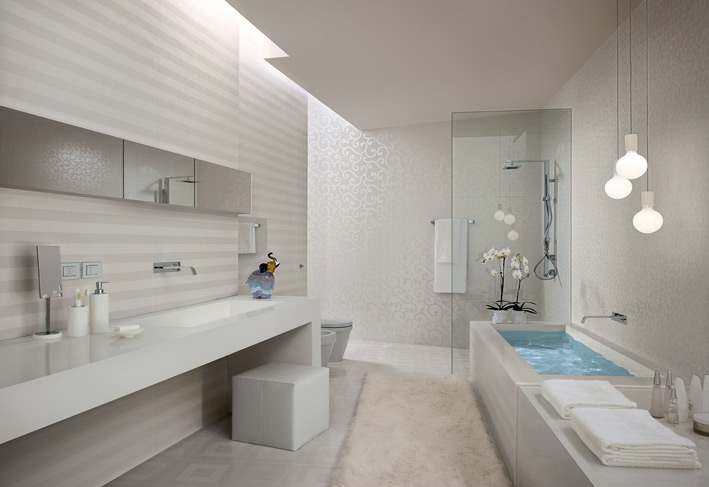 white stripe bathroom tiles interior design ideas white bathroom tile ideas bathroom design ideas