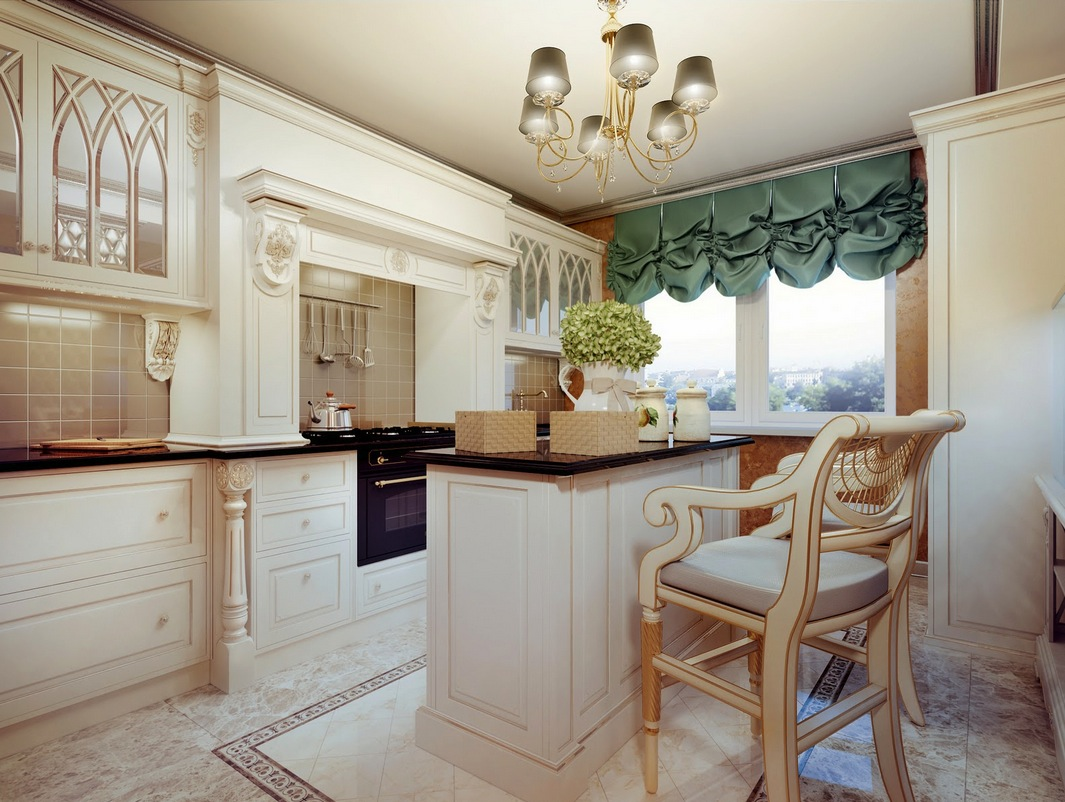 Cream Kitchen Design Traditional Cream Kitchen Interior Design Ideas