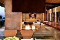 Modern open fireplace | Interior Design Ideas.