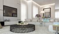 White living room decor scheme | Interior Design Ideas.