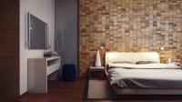 Wood block feature wall | Interior Design Ideas.