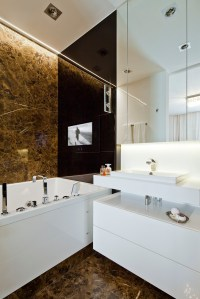 Brown marble bathroom | Interior Design Ideas.