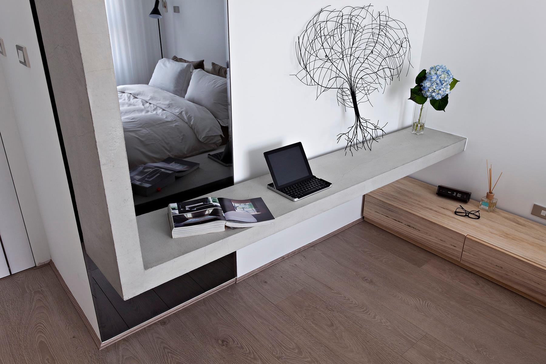 Floor Shelves For Bedroom Contemporary Bedroom Shelving Interior Design Ideas