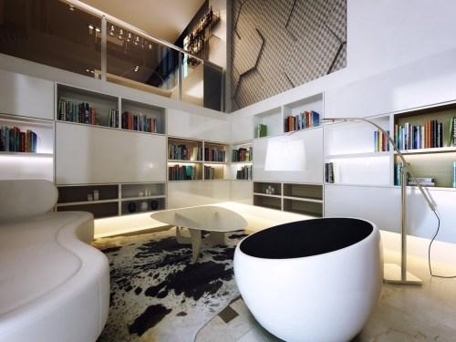Medium Of Contemporary Living Room