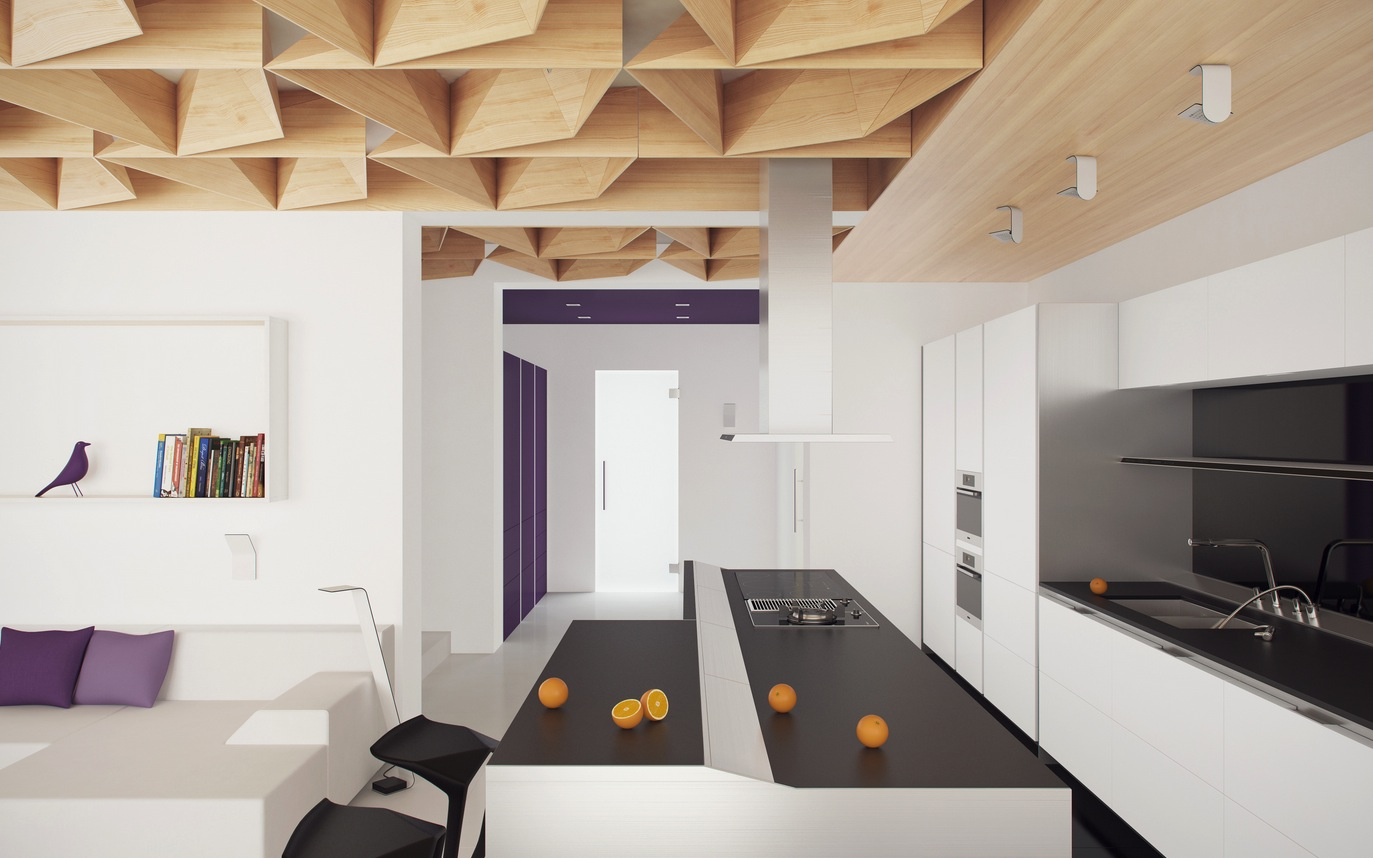 Black White And Purple Living Room Blur The Boundaries With Inside Outside Living Style
