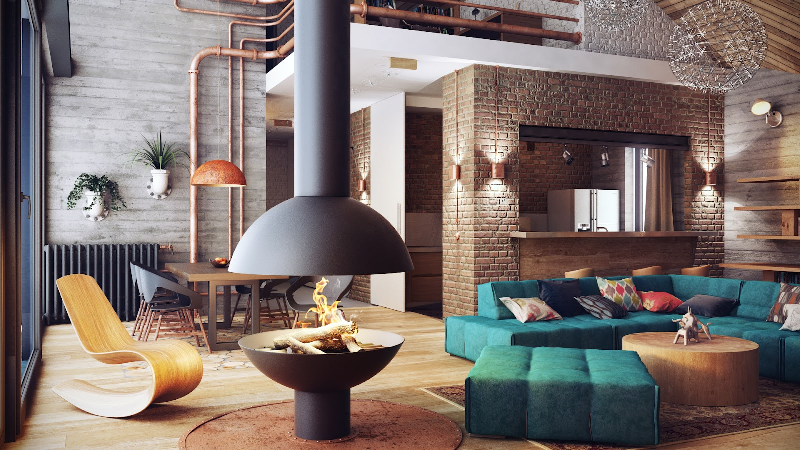 Industrial Chic Decorating Ideas Industrial Lofts