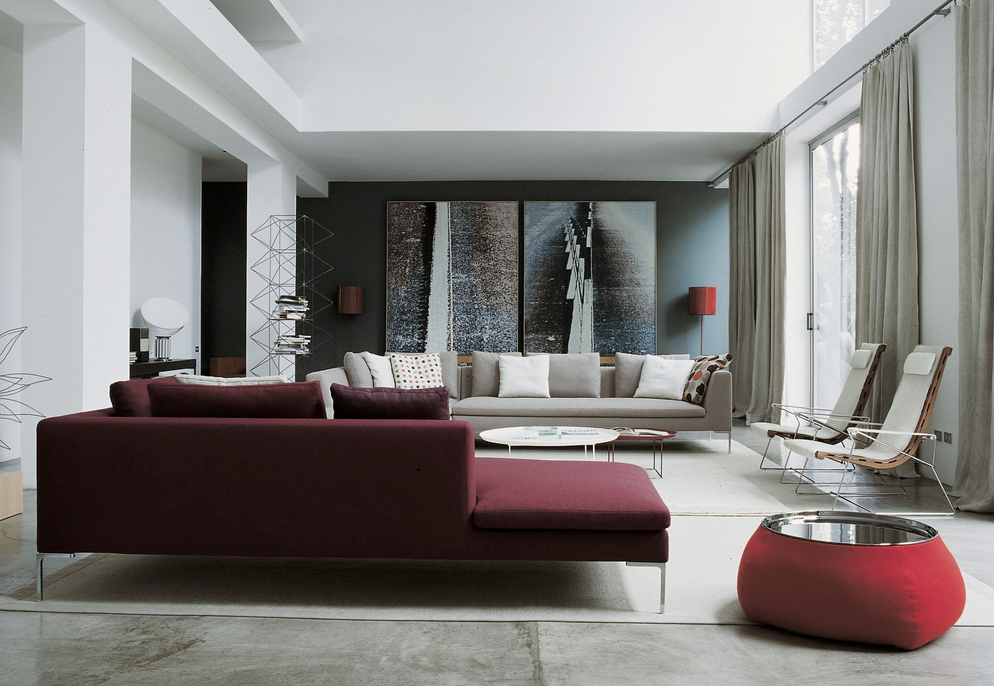 Maroon And Grey Living Room 23 Luscious Living Rooms