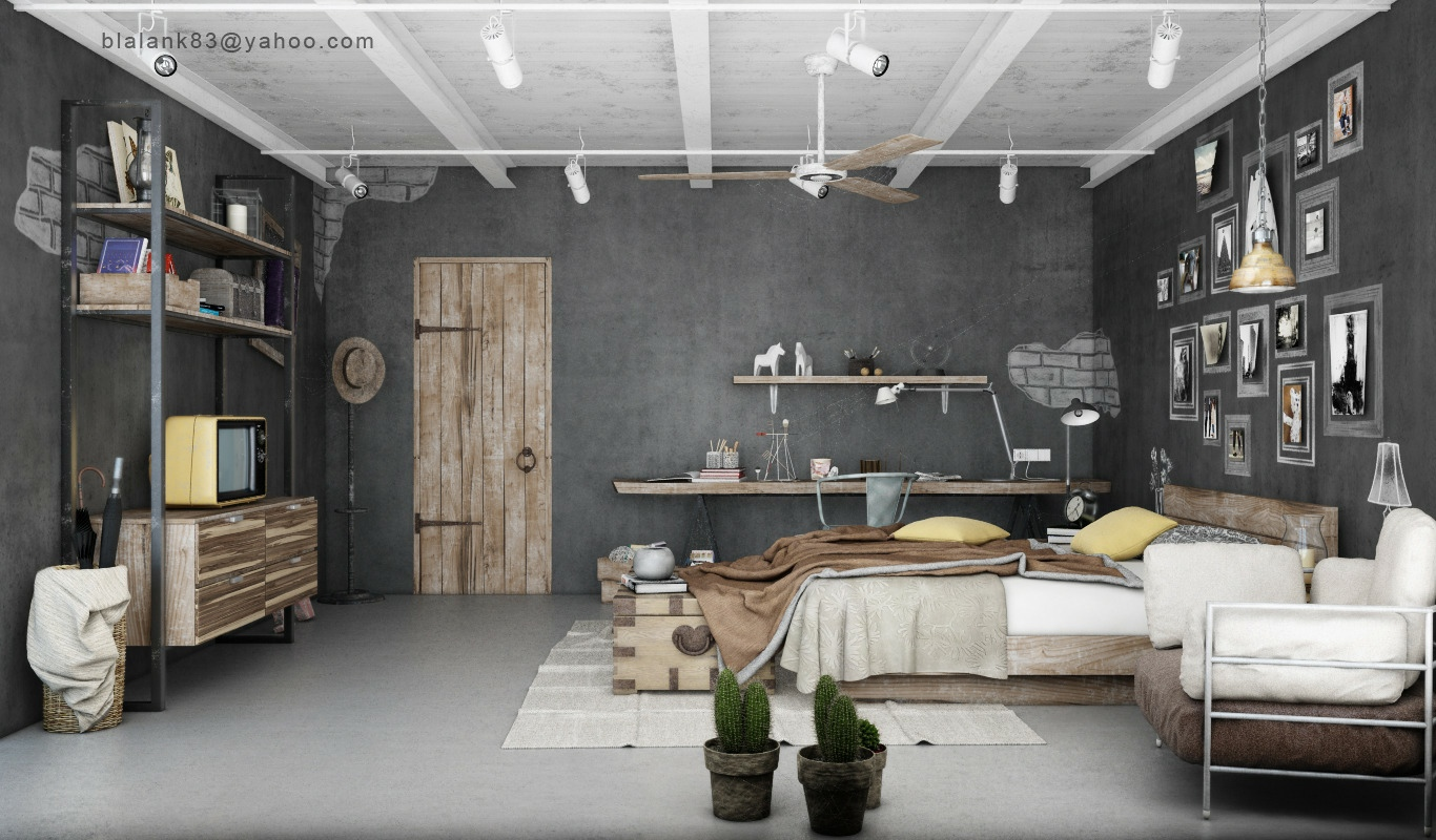 Industrial Chic Decor Industrial Bedrooms With Divine Detail