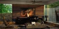 Wood wall paneling | Interior Design Ideas.