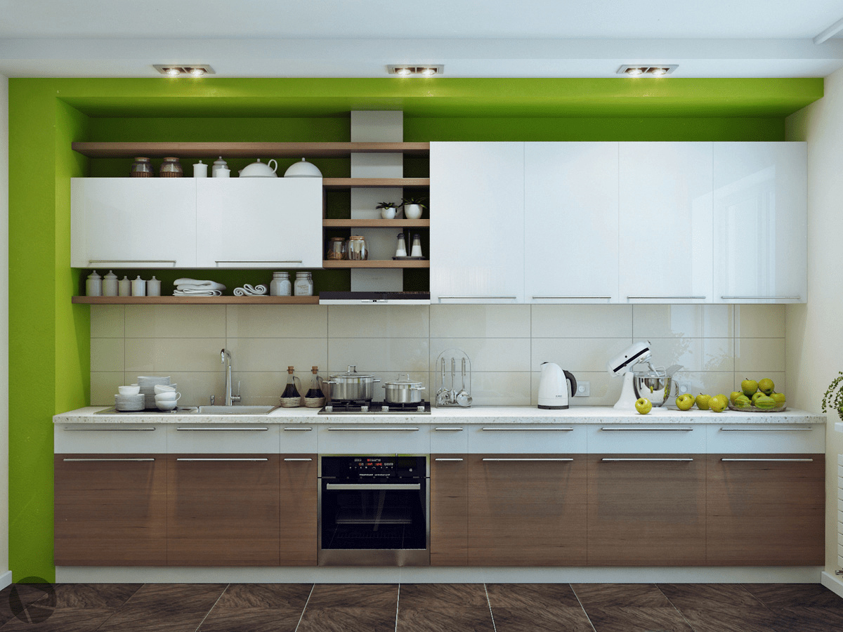 White Green Kitchen Ideas Green White Wood Kitchen | Interior Design Ideas.