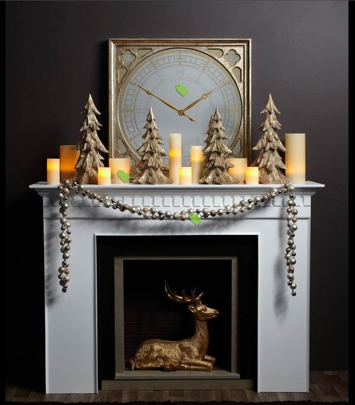 christmas mantel decor ideas Interior Design Ideas - christmas mantel decor