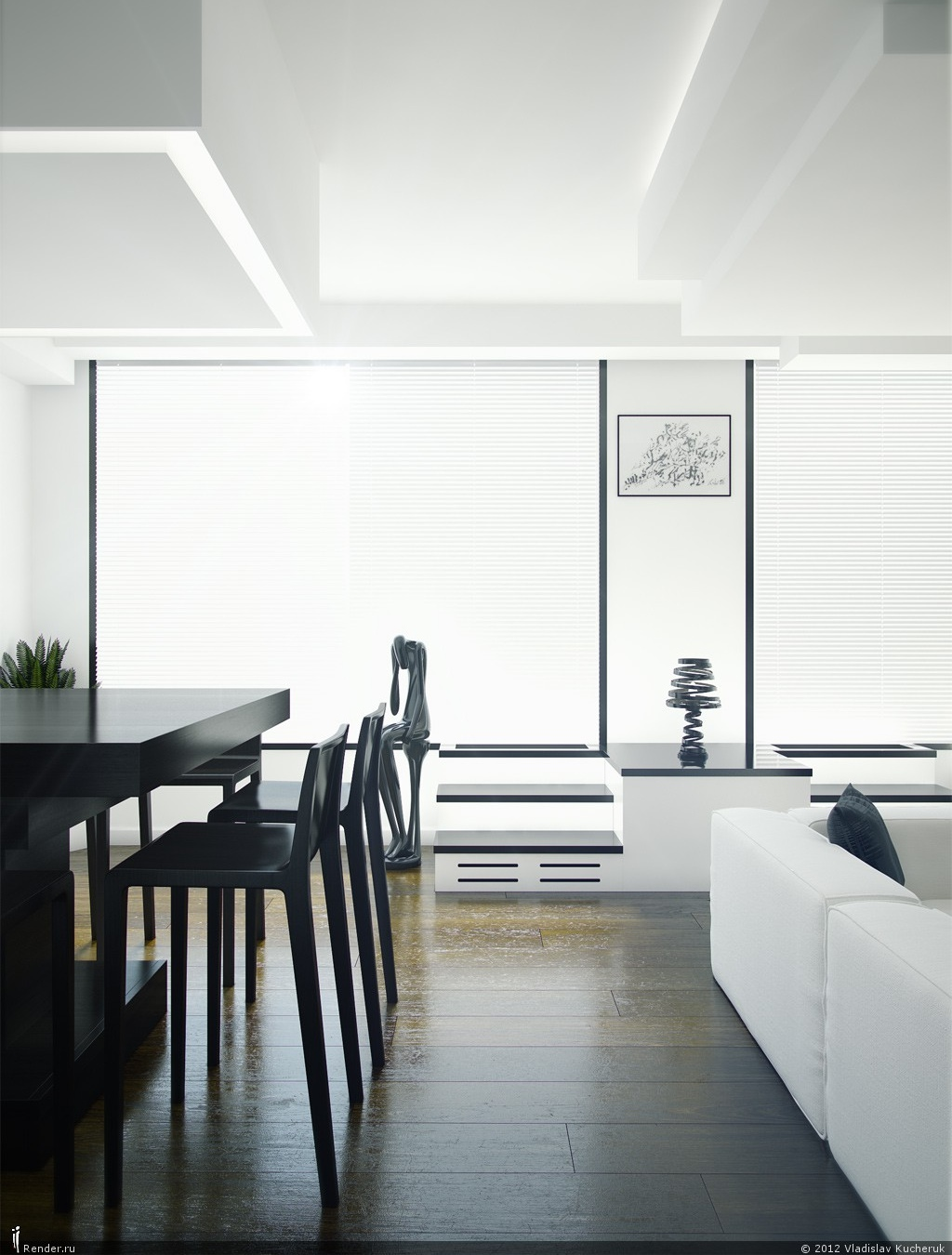 Modern Decor Elegant Black And White Modern Decor Interior Design Ideas