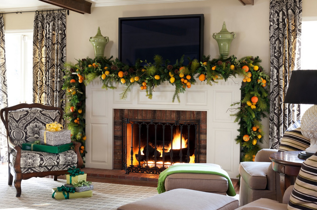 Mantelpiece Ideas Christmas Mantel Decor Inspiration