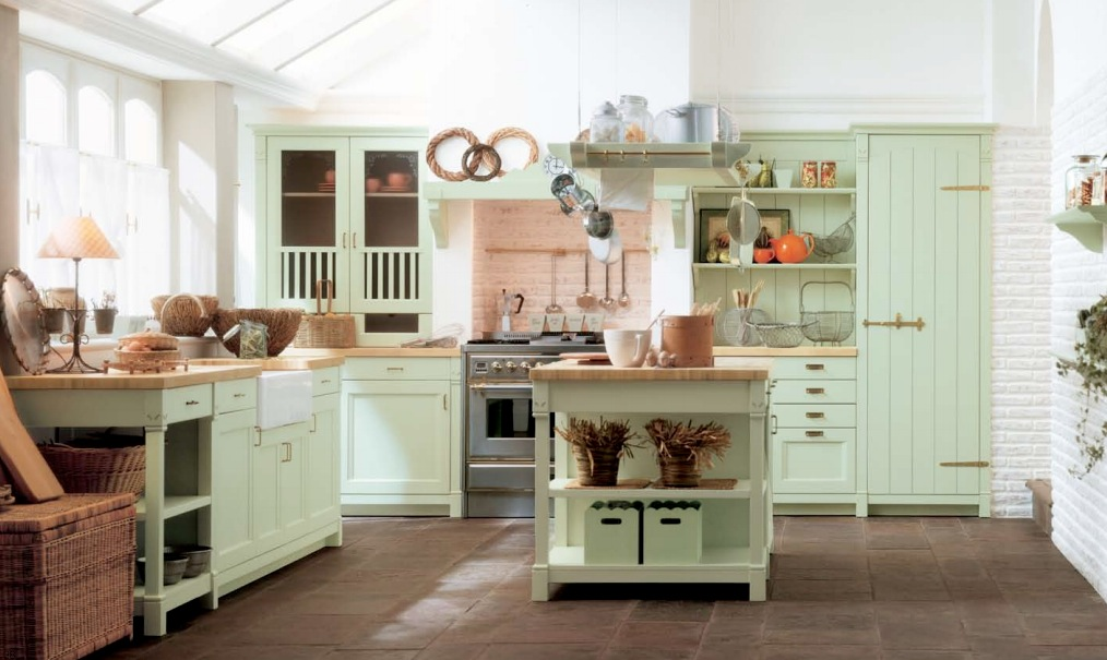 mint green kitchen feminine green homes designs epic home designs
