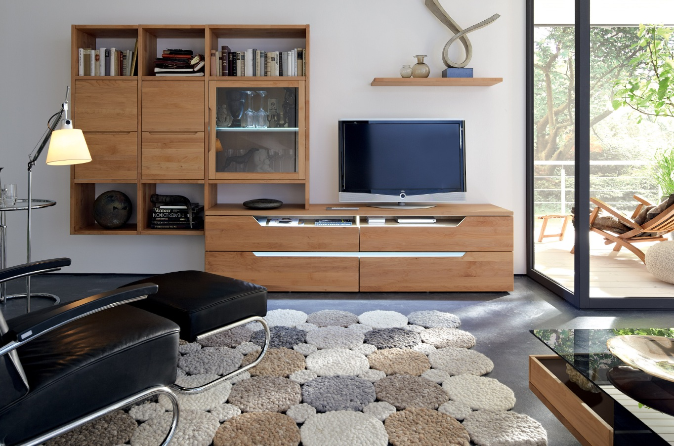 Wall Unit Wooden Wooden Finish Wall Unit Combinations From Hülsta