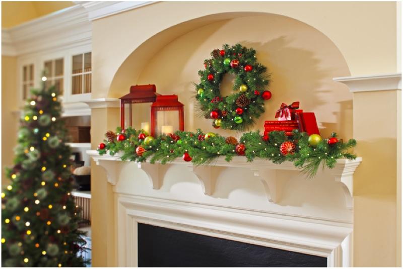 traditional christmas mantel decor Interior Design Ideas - christmas mantel decor