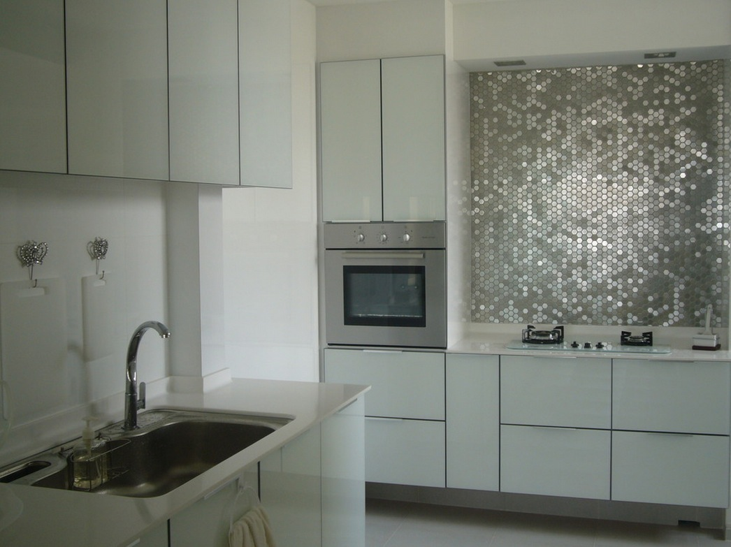 Kitchen Design And Backsplash Metallic Backsplash Glamorous 2 Interior Design Ideas